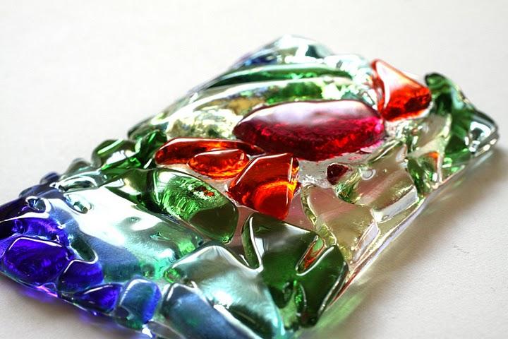 Colorful Mosaic Window Vase