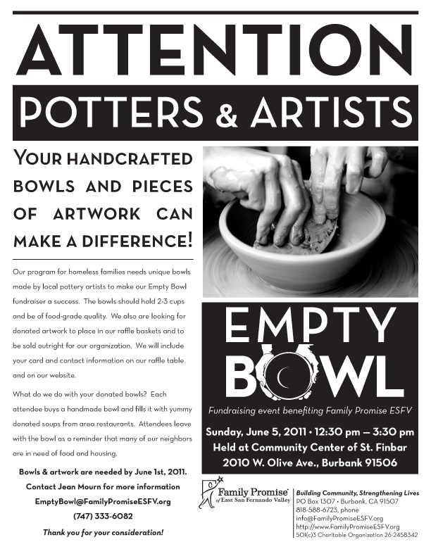 Empty Bowl Potters & Artists' Poster