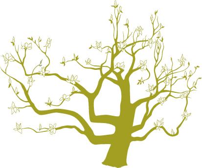 Wedding Logo Japanese Magnolia Tree  Whats Jenny Making
