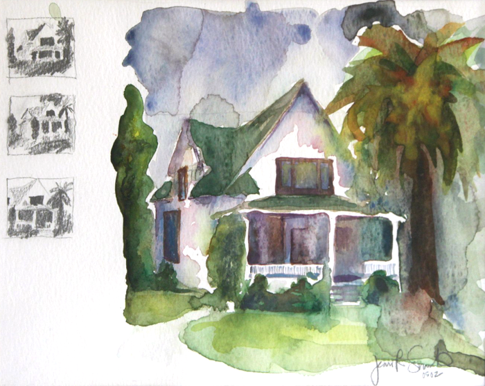 House with Thumbnail Sketches