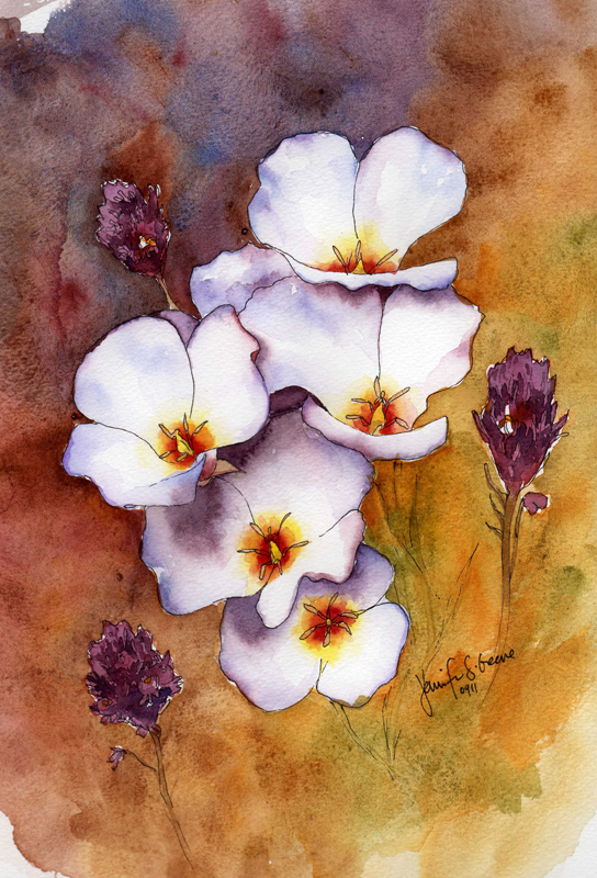 White flowers watercolor painting whats jenny making white flowers watercolor painting mightylinksfo