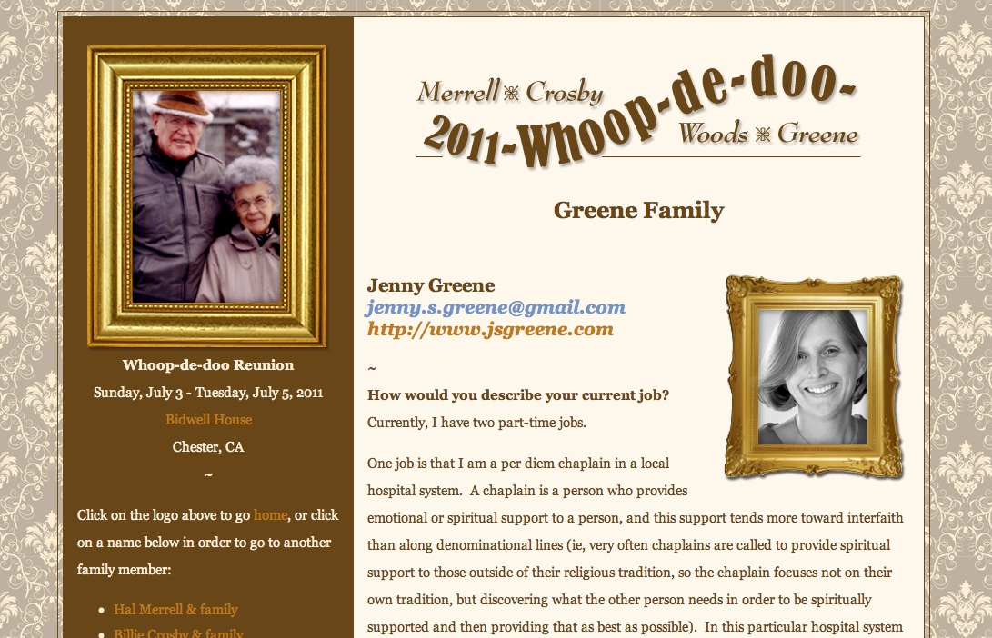 whoopdedoo personal page